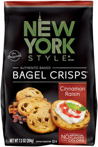 New York Style Bagel Crisp, Cinnamon Raisin 7.2 oz