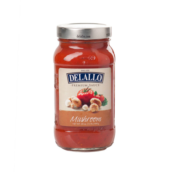 Delallo Spaghetti Sauce w/ Mushrooms 24 oz