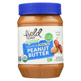 Field Day Organic Peanut Butter, Smooth & Unsalted 18 oz