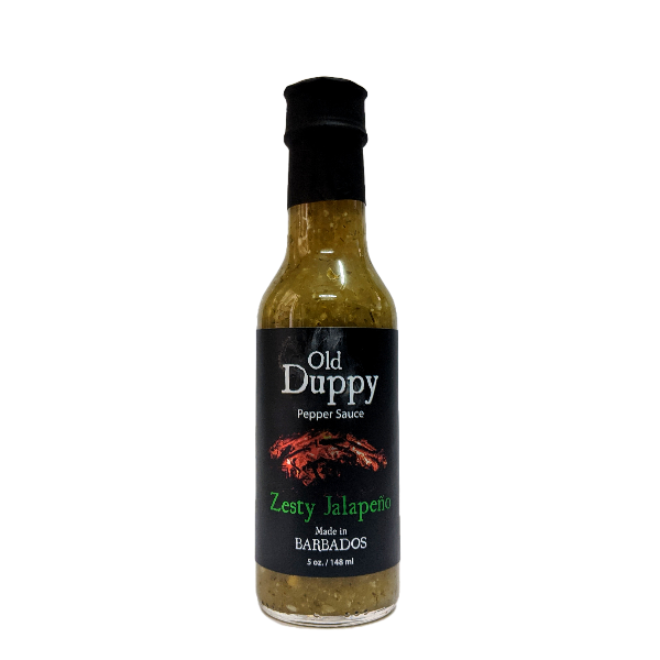 Old Duppy Peppersauce Zesty Jalapeno 5 oz