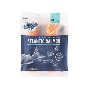 Blue Circle Foods Atlantic Salmon Portions 20 oz