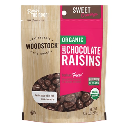 Woodstock Organic Dark Chocolate Raisins 8.5 oz