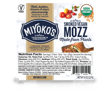 Miyoko Smoked Vegan Mozzarella Cheese