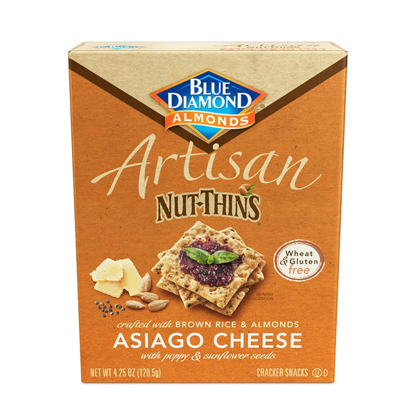Blue Diamond Artisan Asiago Cheese & Seed Nut Thins 4.25 oz