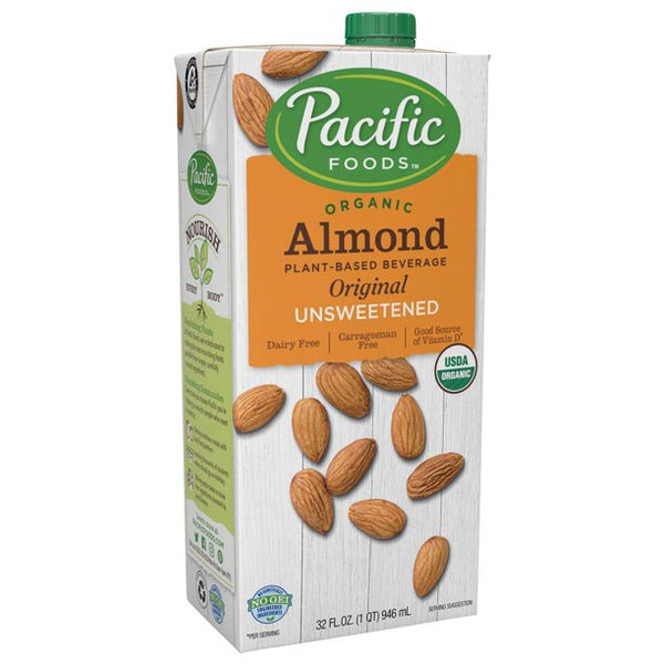 Pacific Foods Almond Beverage Unsweetened 32 fl