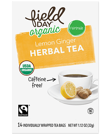 Field Day Lemon Ginger Herbal Tea 16ct