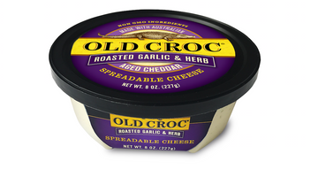Old Croc Roasted Garlic & Herb Cheese Spread 8oz