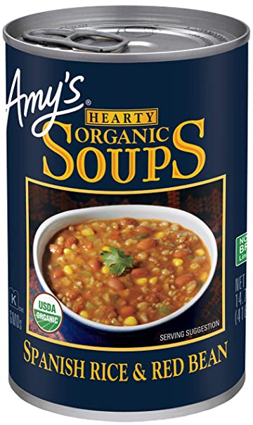 Amy's Spanish Rice & Red Bean Organic Soup 14.7 oz