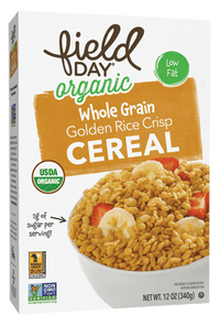Field Day Organic Golden Rice Crisps Cereal 12 oz