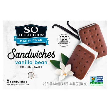 So Delicious Vanilla Bean Coconut Milk Mini Sandwich Bars 2.3 fl. oz