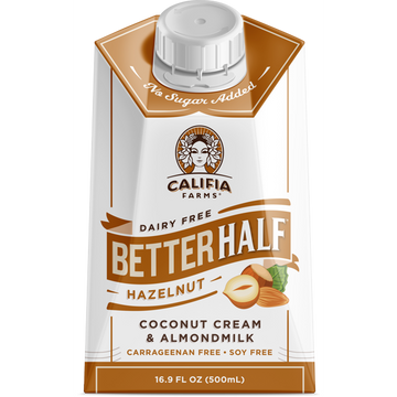 Califia Coconut Cream, Almond Milk Hazelnut Creamer 16.9 fl oz