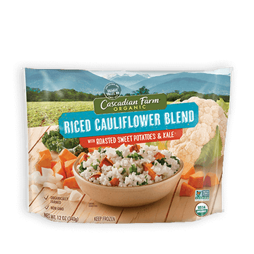 Cascadian Riced Cauliflower Blend w/ Roasted S/potatoes & Kale 12 oz.