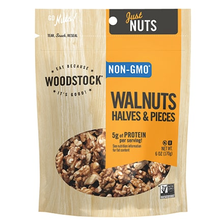 Woodstock Raw Walnut Halves & Pieces 6 oz