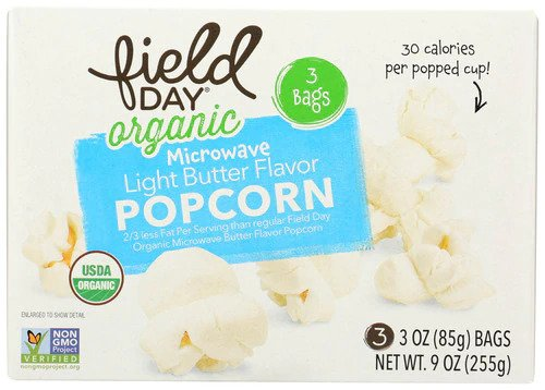 Field Day MW Light Butter Popcorn 3 oz.