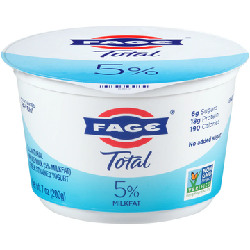 Total Fage Plain Whole Milk Yogurt 5%  17.6 oz.