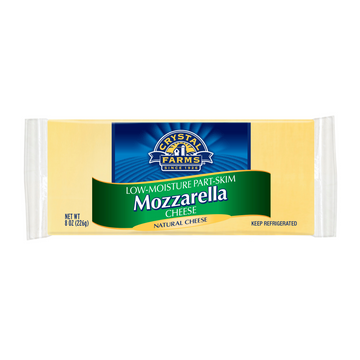 Crystal Farms Mozzarella Brick of Cheese 8 oz