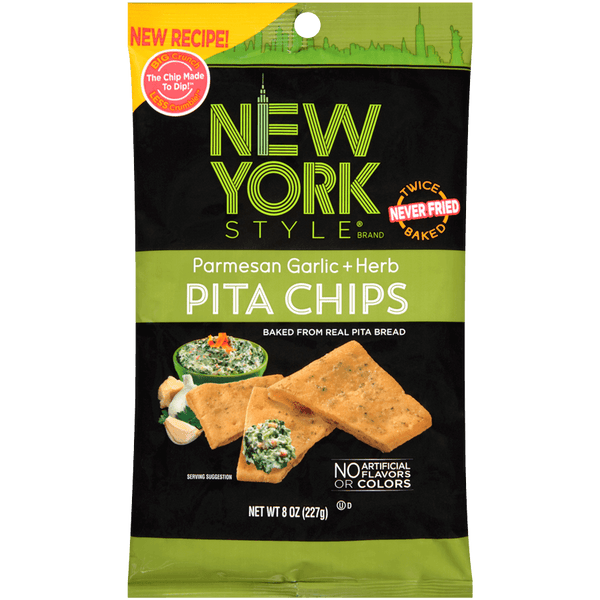 New York Style Garlic Parmesan Pita Chips 8 oz.