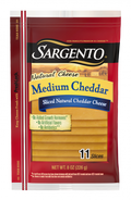 Sargento Medium Cheddar Natural Cheese Slices 226g