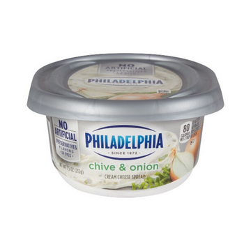 Philadelphia Cream Cheese Chive/Onion 8oz
