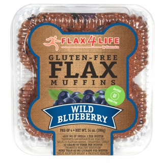 Flax 4 Life 4pk GF Blueberry Muffin 14 oz