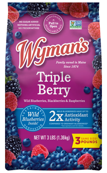 Wyman's Frozen Triple Berry Blend 3lb