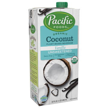 Pacific Foods Coconut Milk, Unsweetend 32 oz