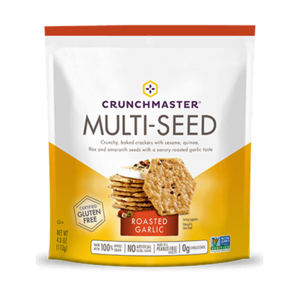 Crunchmaster Roasted Garlic Multiseed Crackers 4oz