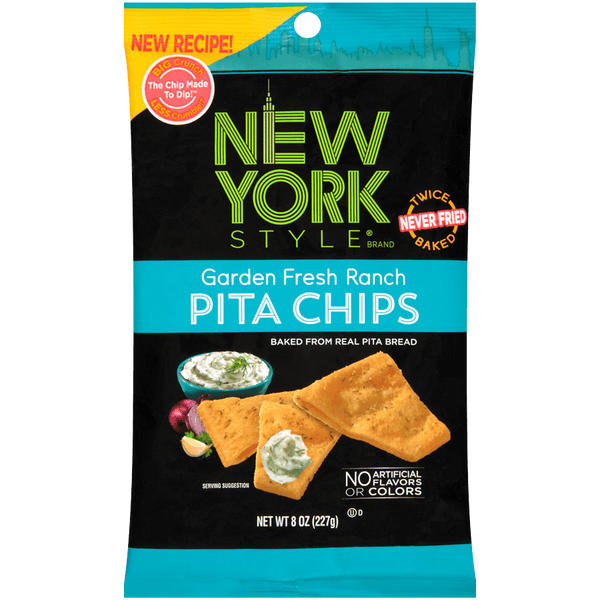 New York Style Garden Fresh Ranch Pita Chips