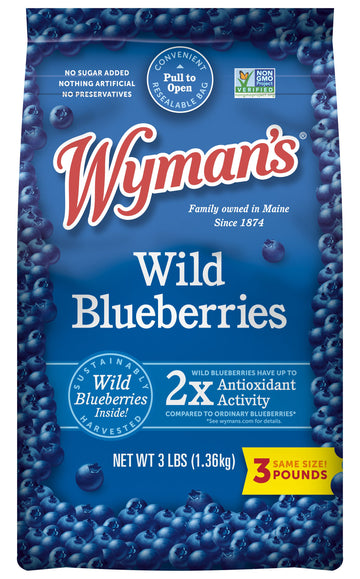 Wyman's Frozen Wild Blueberries 3lb