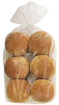 Zephirin's Whole Wheat Hamburger Buns 6's