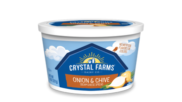 Crystal Farms Onion Chive Cream Cheese Spread 8 oz