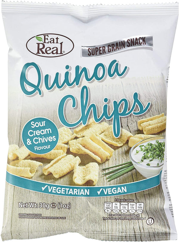 Eat Real Quinoa Chips Sour Cream & Chive 30g