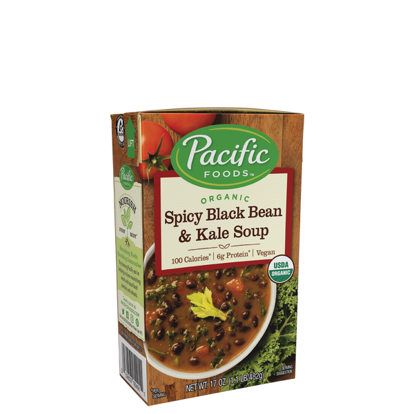 Pacific Foods Spicy Black Bean & Kale 17 oz