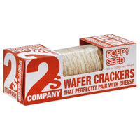 2s Company Poppy Seed Wafer Crackers 3.5 oz