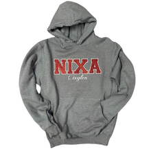 Load image into Gallery viewer, Nixa Eagles Glitter/Embroidered Hoodie
