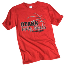 Load image into Gallery viewer, Ozark Lady Tigers Basketball T-Shirt