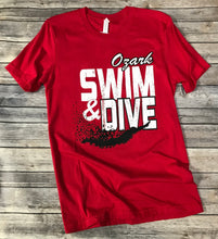 Load image into Gallery viewer, Ozark Swim Soft Red T-Shirt