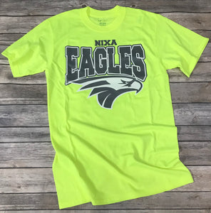 Nixa Eagles Neon Green/Yellow/Orange T-Shirt