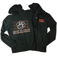 Load image into Gallery viewer, Ozark Tigers Lightweight Black Jacket