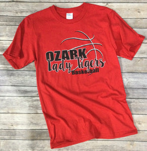 Ozark Lady Tigers Basketball T-Shirt