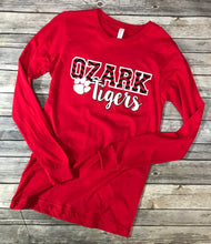 Load image into Gallery viewer, Ozark Tigers Soft Long Sleeve Red T-Shirt