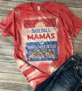 Baseball Mamas ~ Always Salty Bleach Wash Tee