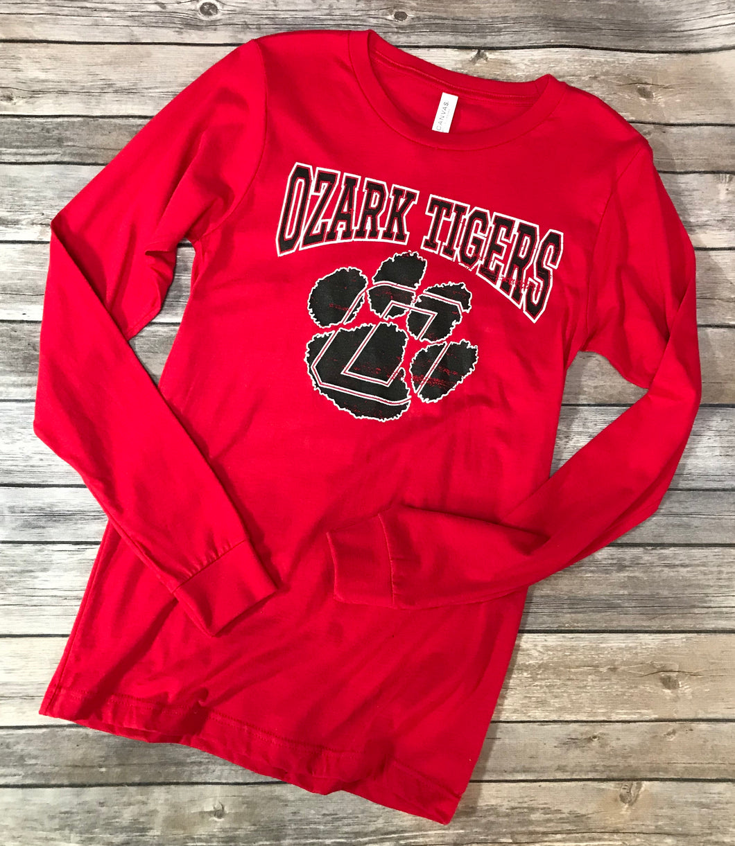 Ozark Tigers Soft Long Sleeve Red T-Shirt