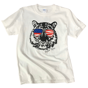 Ozark Patriotic Tiger White T-Shirt Youth/Adult