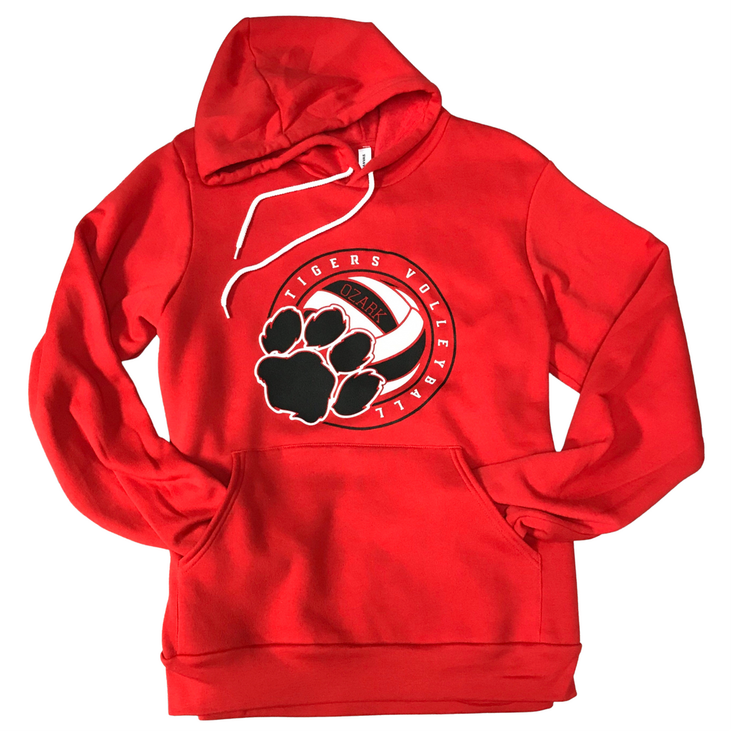 Ozark Volleyball Soft Red Hoodie