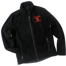 Load image into Gallery viewer, Ozark Tigers Black Fleece Jacket