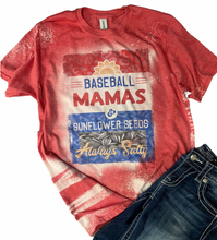 Load image into Gallery viewer, Baseball Mamas ~ Always Salty Bleach Wash Tee