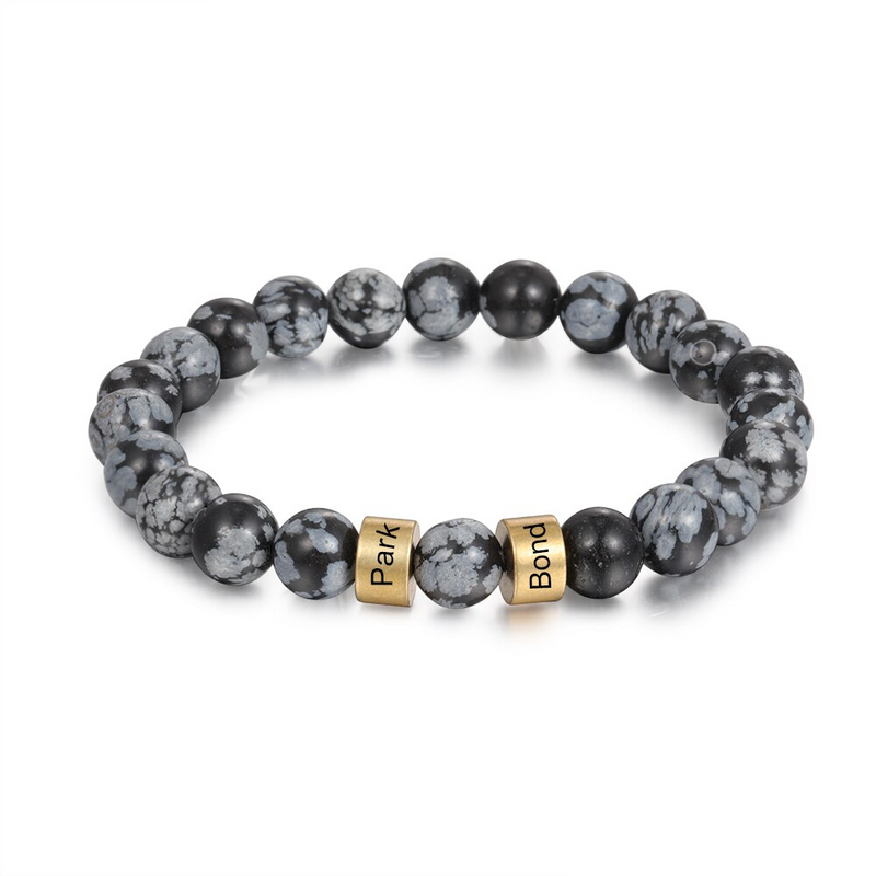 Mystic Grey Beaded Bracelet - Charm Cove