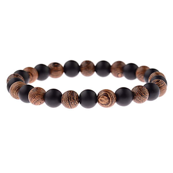 Natural Wood Beaded Bracelet - Charm Cove