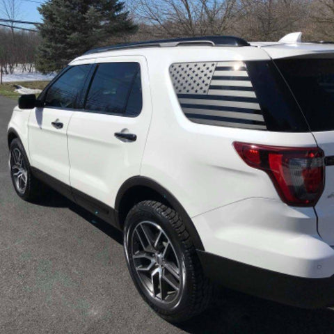 Ford explorer american flag decal ( Non-precut ) - OGRAPHICS